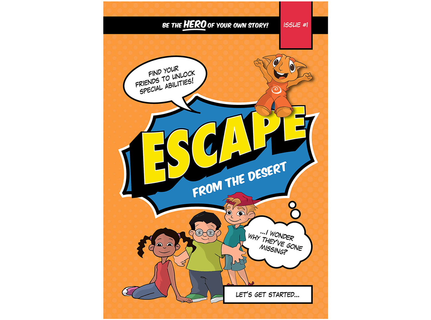 Front cover of Escape from the Desert - A children's book developed by Amergin in collaboration with Uniting Care